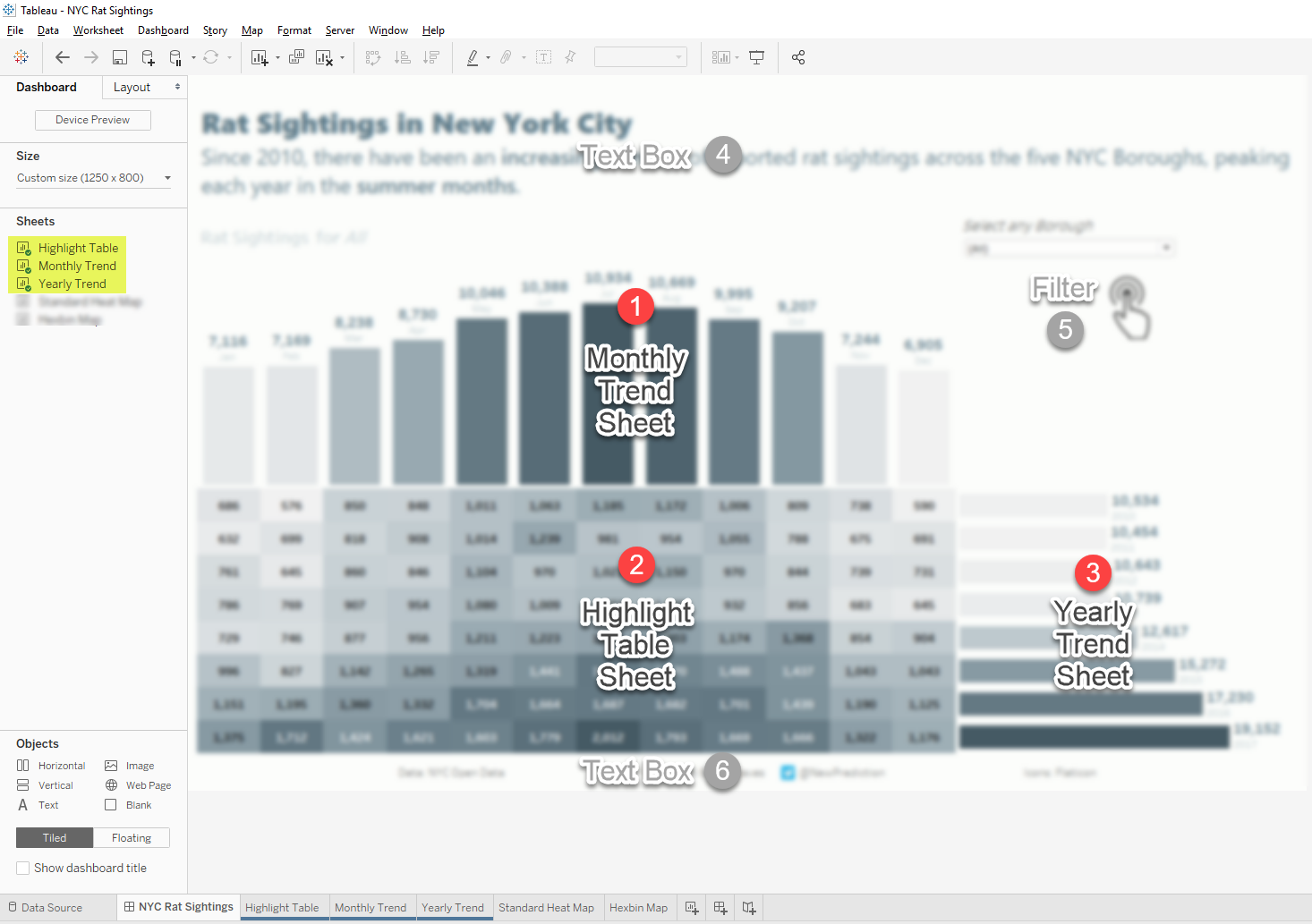 Tableau Highlight Table Dashboard Steps